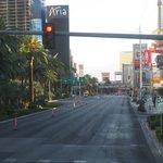 View of the Strip northbound around 6:30am