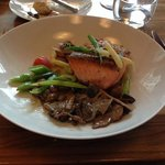 Entree of salmon- yum!