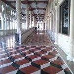 magnífico piso da varanda do Palácio dos Dodges