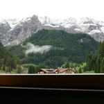 View of the Sella Group after a summer dusting of snow