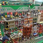 Awesome Lego train and village - complete with Mario and Luigi