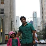 WIth my daughter near the hotel