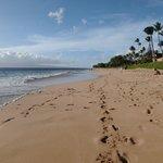 飯店外沙灘