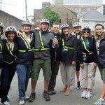 Our fun biking group.