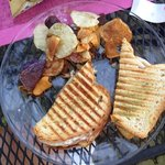 GRILLED CHICKEN, SALAMI AND SWISS PANINI