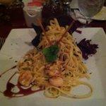 Fettuccine & Shrimp...so good