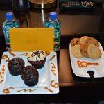 Cupcakes, cookies, water and a card for my sons 16th. Thank you!!