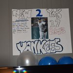 They made this poster for my sons 16th. He is a big fan. So nice!