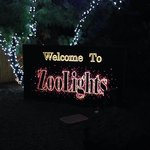 Entrance sign for Zoolights