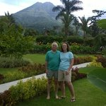 The grounds outside our room, and the Arenal Volcano