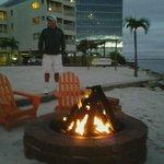firepit warmth