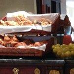 Breakfast: Breads, Assorted Pastries, Fruit, etc.