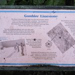 Sign on Gambier Limestone