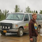Mike and the van we traveled in.