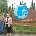 We're at the Arctic Circle: 66˚33'.
