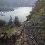 Visa da Decida na frente do funicular