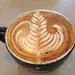 Awesome latte art. Great barista.