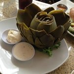 Steamed Artichoke.
