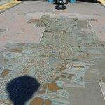 Mapa de Jersey City en la estación de tranvía