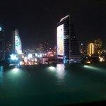 Skyline desde la piscina en el piso 14