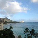 rainbow over Diamond Head from our room