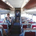 Inside the carriage on Rocky Mountaineer