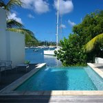 Coral Beach Club Waterfront/Harbor villa pool overlooking harbor