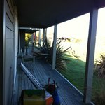 Deck outside the rooms