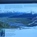Explanation of the reducing glacier per years.