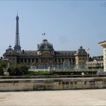 Here you can see the Ecole Militaire, showing the fantastic architecture along with the Eiffel T