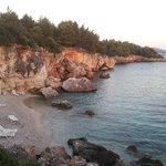 Limanaki beach in the evening