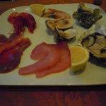 piatto pesce crudo