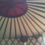 The yurt ceiling (lerretshytte)