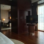 Reverse view of bedroom and main room behind, suite 2704.