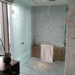Shower stall in bathroom of suite 2704.