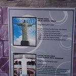 Catatan/ note dari Replika patung Kristus