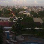 View dari kamar hotel Clarion