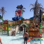 Slide & spalsh Aqua Park kids bit very big & lots of fun
