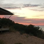 Sunset over ocean front villa