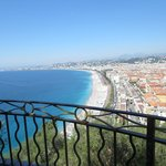 View of Promenade des Anglais from Castle Hill