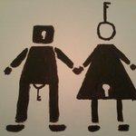 Toilet art. X-Hostel Bucharest. :-)