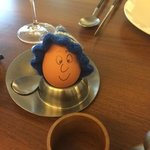 My boiled egg at breakfast