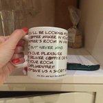 Funny mug - complimentary tea and coffee