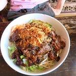 Grill pork rice vermicelli