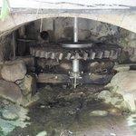 Old water mill wheel