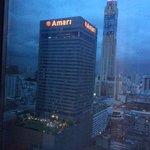 View from Room - Can see Amari and Baiyoke