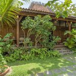 A view on of our traditional Indonesian teak villas