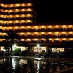 hotel vu du parc de la piscine
