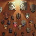 Javanese masks as decoration in one of our villas