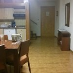 downstairs sitting area/kitchen